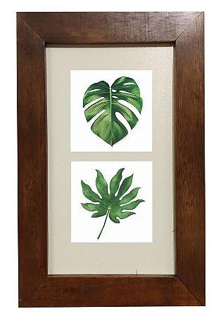 3002M-008 Quadro decor madeira - Folhas