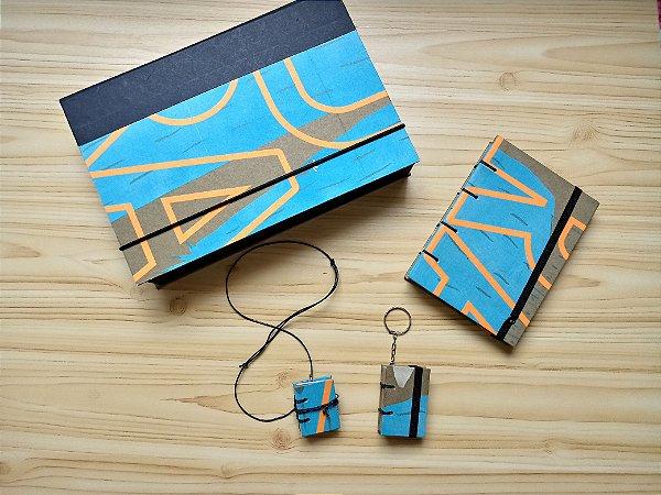 Kit Caixa+Caderno+Miniatura