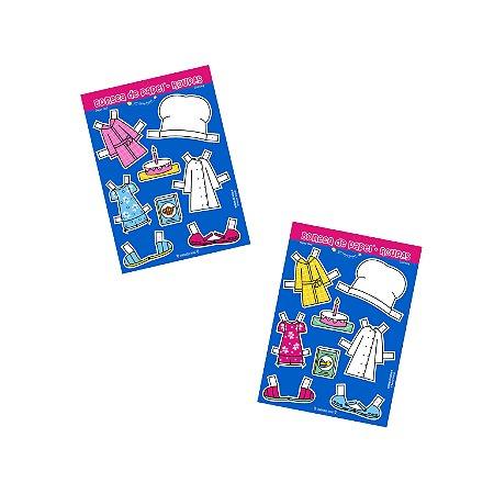Cartela de Roupinhas p/ Mini Boneca de Papel®