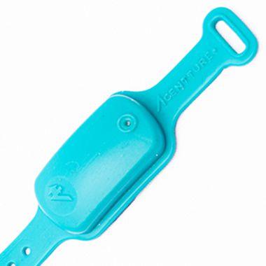 Pulseira Biossegurança Dispenser de Álcool em Gel Azul Turquesa - Silicone