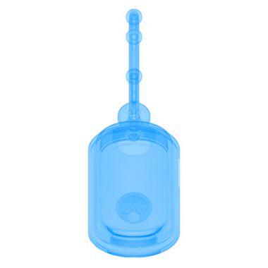 Chaveiro Biossegurança Dispenser de Álcool em Gel Azul Translúcida - Silicone