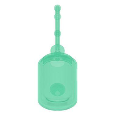 Chaveiro Biossegurança Dispenser de Álcool em Gel Verde Translúcido - Silicone