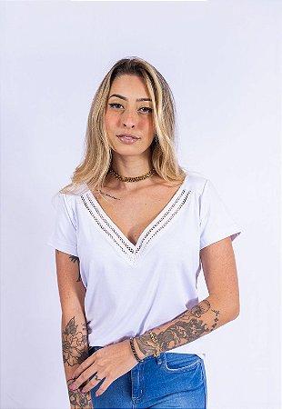 Blusa Básica Tirinhas Up Side Wear Branca