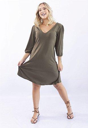 Vestido Up Side Wear Decote V Verde