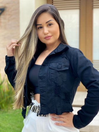 Jaqueta Jeans Preta
