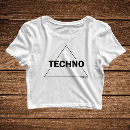 Cropped Techno Triangle Branco - Rave ON