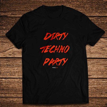 Camiseta Dirty Techno Party Laranja - Rave ON