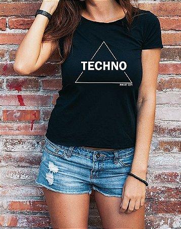 Baby Long Techno Triangle Preta - Rave ON