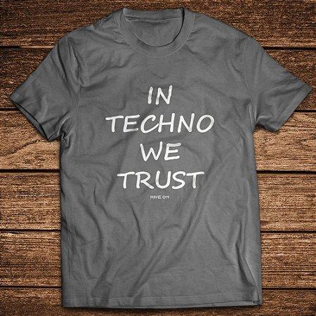 Camiseta estonada In Techno We Trust - Rave ON
