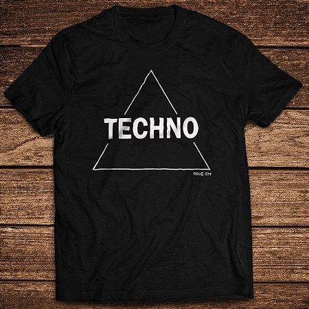 Camiseta Techno Triangle PRETO - Rave ON