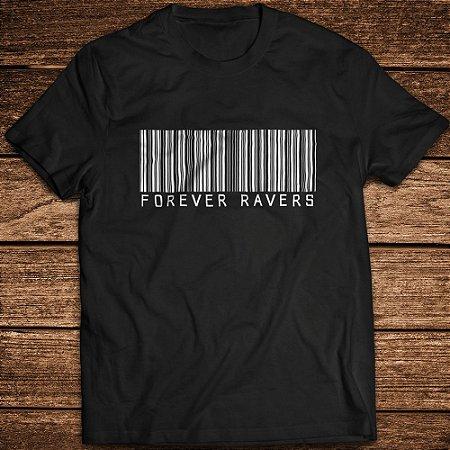 Camiseta Forever Ravers Barcode - Rave ON