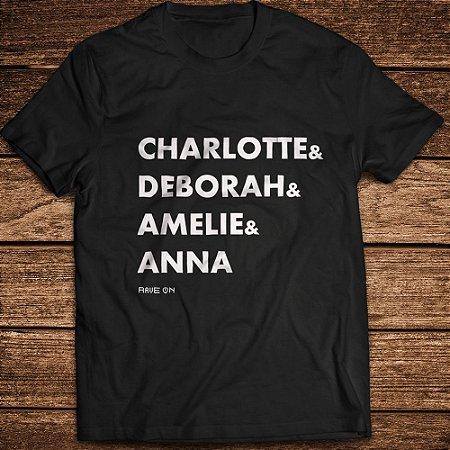 Camiseta Charlotte and Debora ... Rave ON