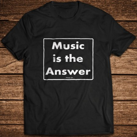 Camiseta Music is the Answer - Rave ON