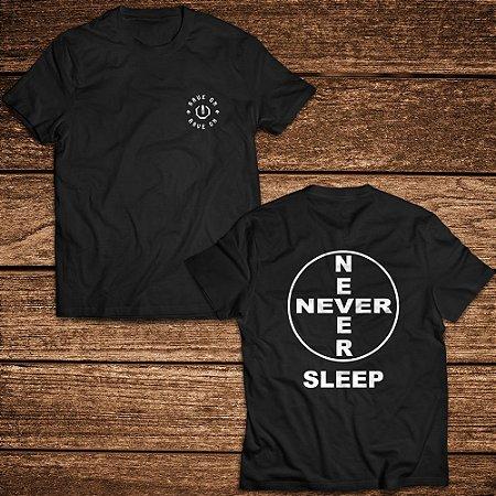 Camiseta Never Sleep - Rave ON