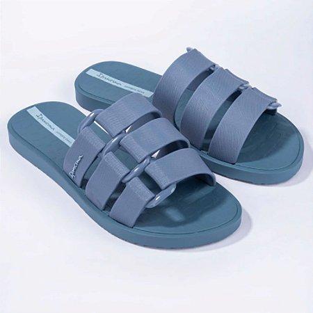 Chinelo Slide Ipanema Feminino Bold Azul