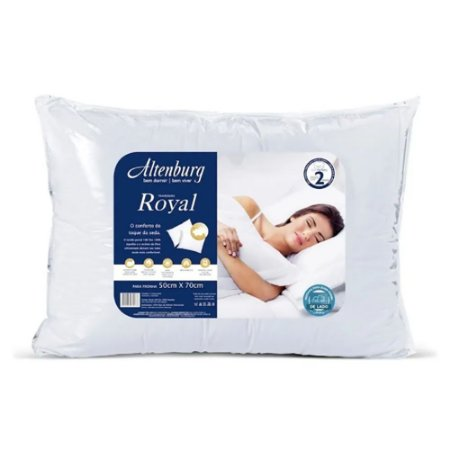 Travesseiro Altenburg Royal Branco 50cm x 70cm