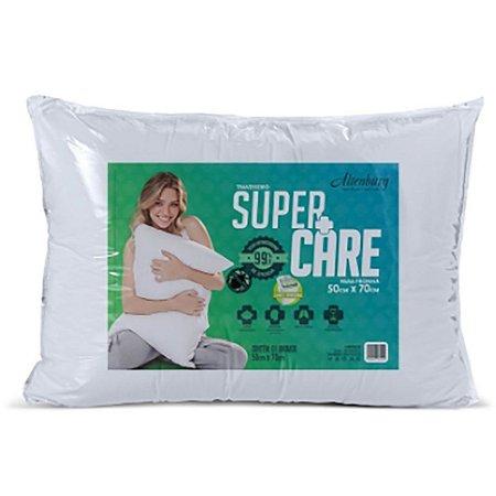 Travesseiro Altenburg Supercare Branco 50cm x 70cm Antimicrobiano