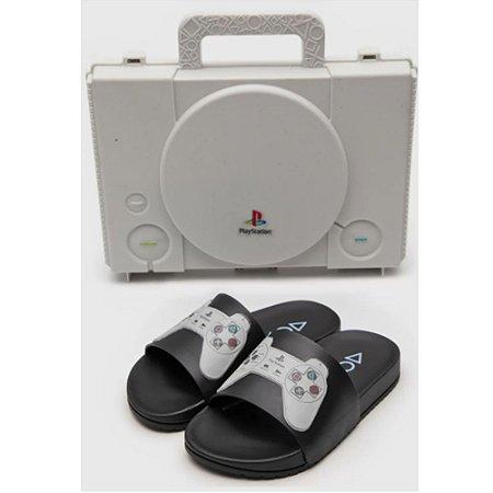 Chinelo Slide Grendene Kids Infantil Playstation Play One Preto
