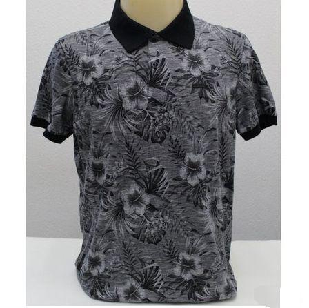 Camiseta Polo Flamê Manga Curta Estampa Floral SVK 1400014