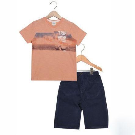 Conjunto Infantil Alakazoo Trip Laranja/ Azul 34632