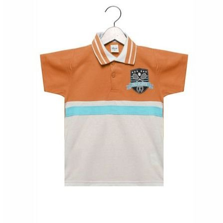 Camisa Polo Elian Manga Curta Laranja 24701