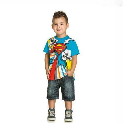 Camiseta Im Supermen Gola Redonda Manga Curta Kamylus 92032