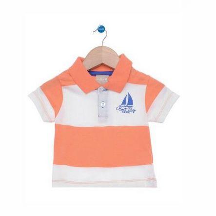 Camisa Pólo Bordada Manga Curta Listrada Milon 8210