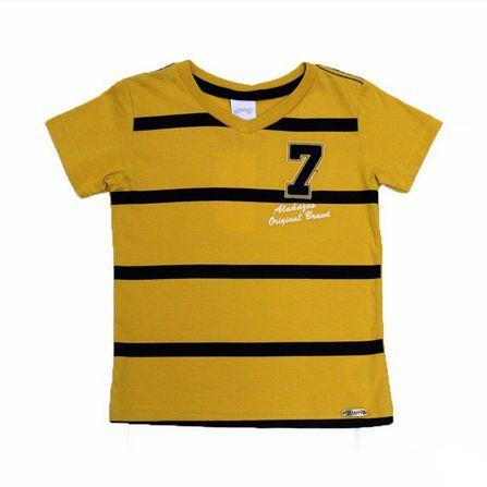 Camiseta Gola Redonda com Bordado Manga Curta Alakazoo 31704