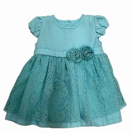 Vestido de Festa Rendado com Top e Pérolas Paraíso Moda Bebê 018.4789