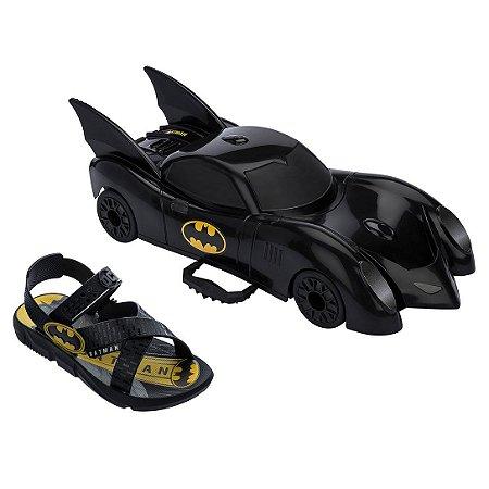 Chinelo Infantil Grendene Kids Batman Batmovel - Preto