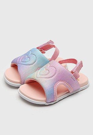 Sandália Pampili Infantil Tie Dye Fly Mini Rosa/Roxo