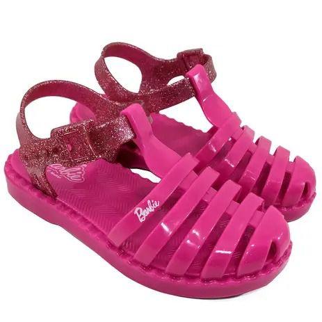 Sandália Barbie Duo Aranha Grendene Kids Pink
