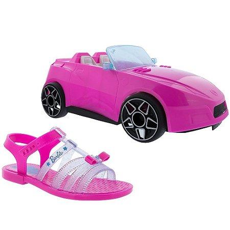 Sandália Grendene Kids Infantil Barbie + Brinde Pink Car