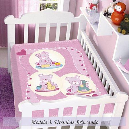 Cobertor Infantil Menina Raschel Jolitex 90x110