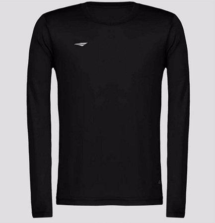 Camiseta Penalty Matis Manga Longa Juvenil Dry Proteção UV Preto