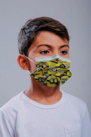 INFANTIL Máscara cirúrgica tripla c/ elástico 30 und. - ESTAMPA 1