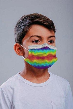 INFANTIL Máscara cirúrgica tripla c/ elástico 30 und. - ESTAMPA 3