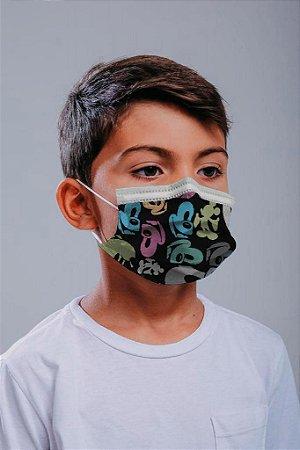 INFANTIL Máscara cirúrgica tripla c/ elástico 30 und. - ESTAMPA 5