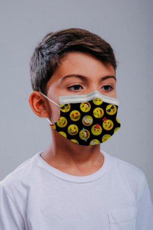 INFANTIL Máscara cirúrgica tripla c/ elástico 30 und. - ESTAMPA 8