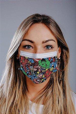Máscara cirúrgica tripla c/ elástico cx c/ 30 und - Estampa 1