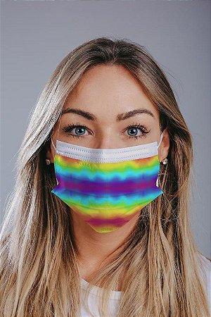 Máscara cirúrgica tripla c/ elástico cx c/ 30 und - Estampa 3