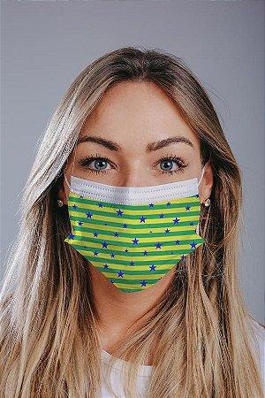 Máscara cirúrgica tripla c/ elástico cx c/ 30 und - Estampa 5