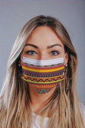 Máscara cirúrgica tripla c/ elástico cx c/ 30 und - Estampa 25