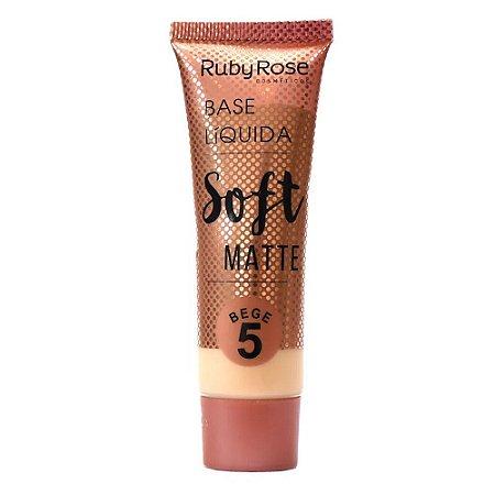 BASE LÍQUIDA SOFT MATTE RUBY ROSE - BEGE 5