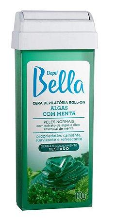 CERA DEPILATÓRIA ROLL-ON ALGAS COM MENTA DEPIL BELLA