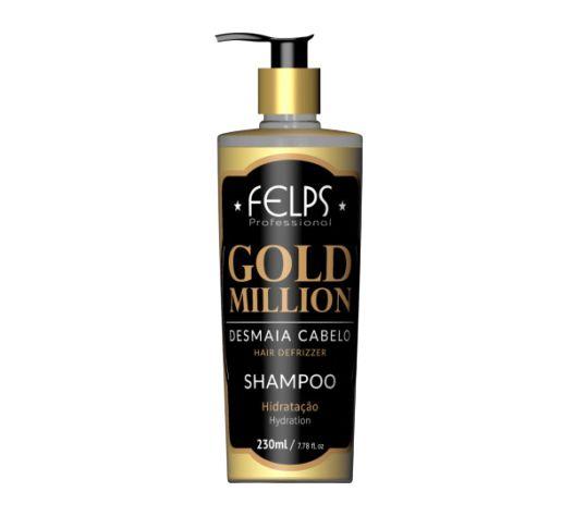 SHAMPOO DESMAIA CABELO GOLD MILLION FELPS