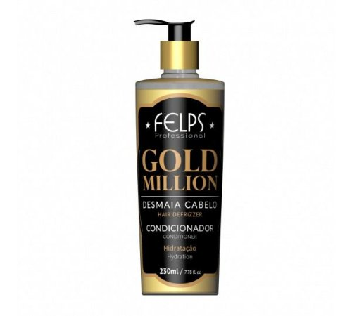 CONDICIONADOR DESMAIA CABELO GOLD MILLION FELPS