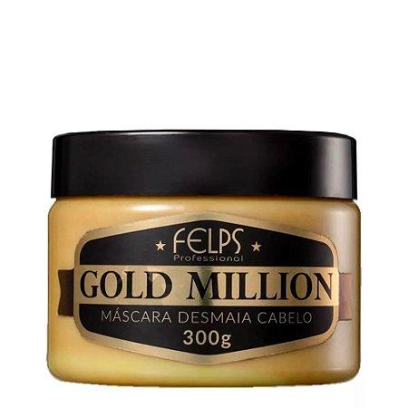 MÁSCARA DESMAIA CABELO GOLD MILLION FELPS