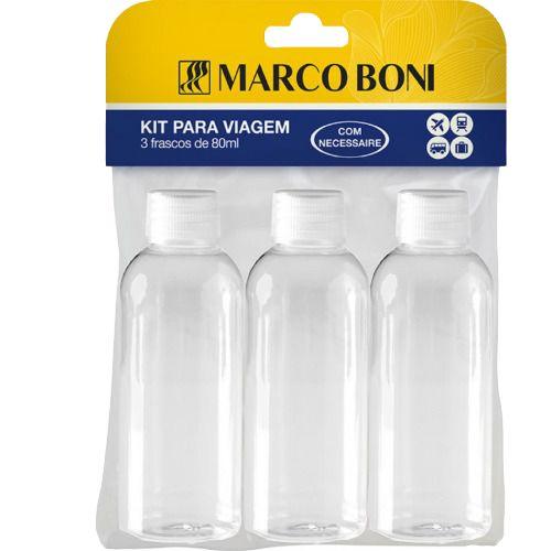 KIT PARA VIAGEM COM 3 FRASCOS MARCO BONI