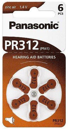 Pilhas para Aparelhos Auditivos PR312 PANASONIC